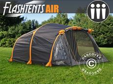 Flashtents® Camping tent Air, 3 persons, Orange/Dark Grey