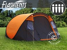 Flashtents® Camping tent4 persons, Medium, Orange/Dark Grey