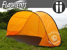 Flashtents® Camping tent  2 persons, Orange/Dark Grey